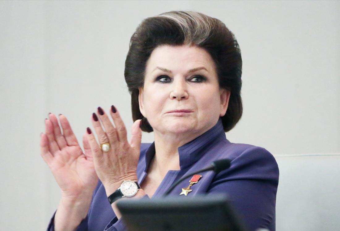 Депутат Госдумы РФ Валентина Терешкова во время первого пленарного заседания седьмого созыва. Октябрь 2016 года.