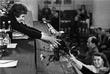 Пресс-конференция летчика-космонавта СССР Валентины Терешковой в Москве. Июль 1963 года.