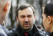 Экс-депутат Госдумы РФ Илья Пономарев на церемонии прощания
