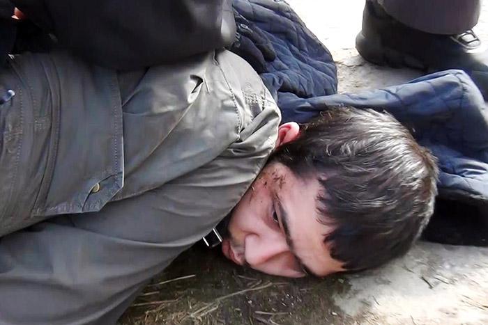 Задержание организатора теракта в Петербурге сняли на видео