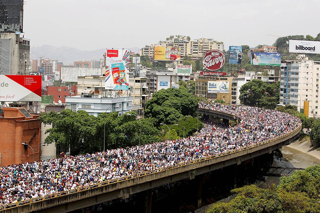 Лидер оппозиции Энрике Каприлес заявил, что оппозиция не остановится, пока в стране не пройдут выборы президента