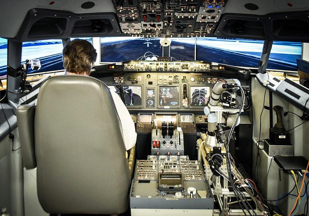 Подарок управление самолетом тренажер 30