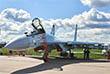 Су-35С, сверхманевренный истребитель поколения 4++, глубокая модернизация Су-27. Не имеет переднего горизонтального оперения и тормозного щитка, оснащен улучшенными информационно-управляющей системой и радиолокационной станцией и новыми двигателями.
