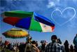 """Воздушное представление в исполнении пилотажной группы """"Первый полет"""" на самолетах Як-52"""