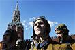 Военнослужащие на Красной площади во время праздничных мероприятий в рамках Дня Воздушно-десантных войск РФ