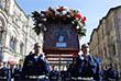 Военнослужащие во время крестного хода от храма Пророка Божия Илии до Красной площади в рамках празднования Дня Воздушно-десантных войск РФ