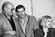 На встрече в Гильдии актеров с Марком Рудинштейном и Александром Абдуловым. 1991 год.
