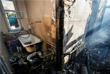 Вследствие попадания снарядов произошло возгорание четырех жилых домов