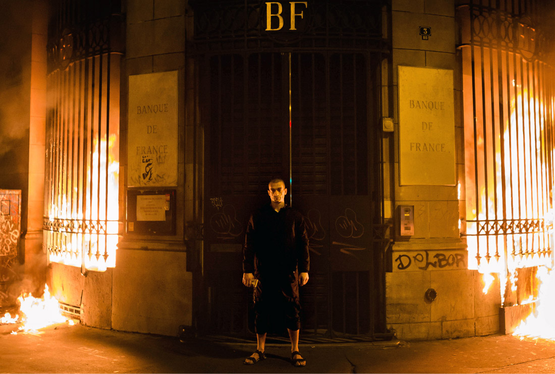 16 октября 2017 года Павленский, получивший недавно политическое убежище во Франции, поджег здание Банка Франции в Париже, после чего был задержан полицией. В результате поджога отделению, расположенному на площади Бастилии, был нанесен ущерб, в особенности, части, где расположен вход. Центральный банк Франции пообещал подать в суд на Павленского.