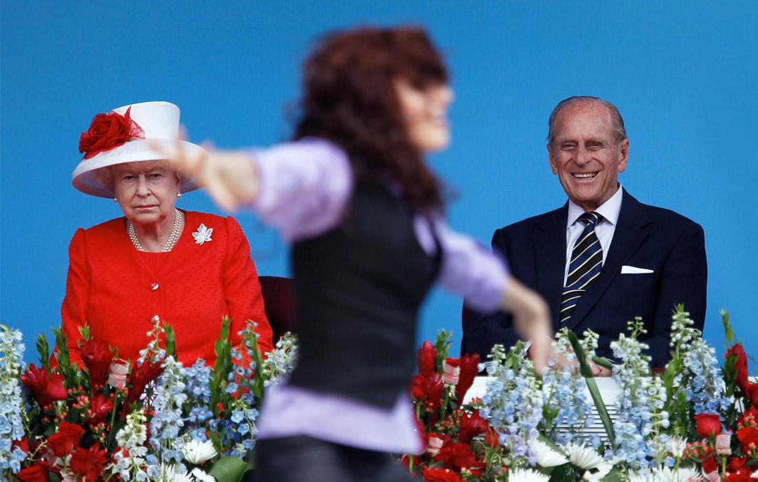 Британская королева с супругом во время празднования Дня Канады в Оттаве. 2010 год.