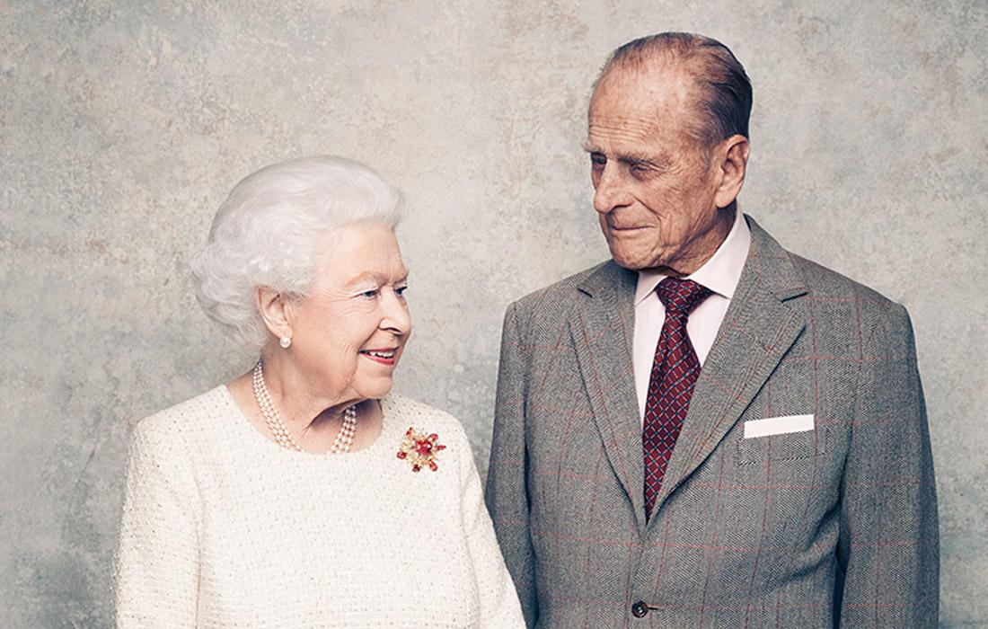 Портрет королевской четы, сделанный в ноябре 2017 года в честь 70-летия со дня бракосочетания