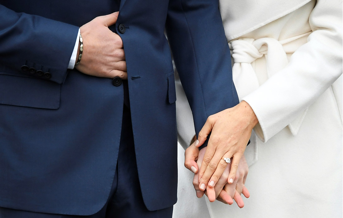 Во время первой фотосессии принца Гарри и Меган Маркл после объявления о помолвке