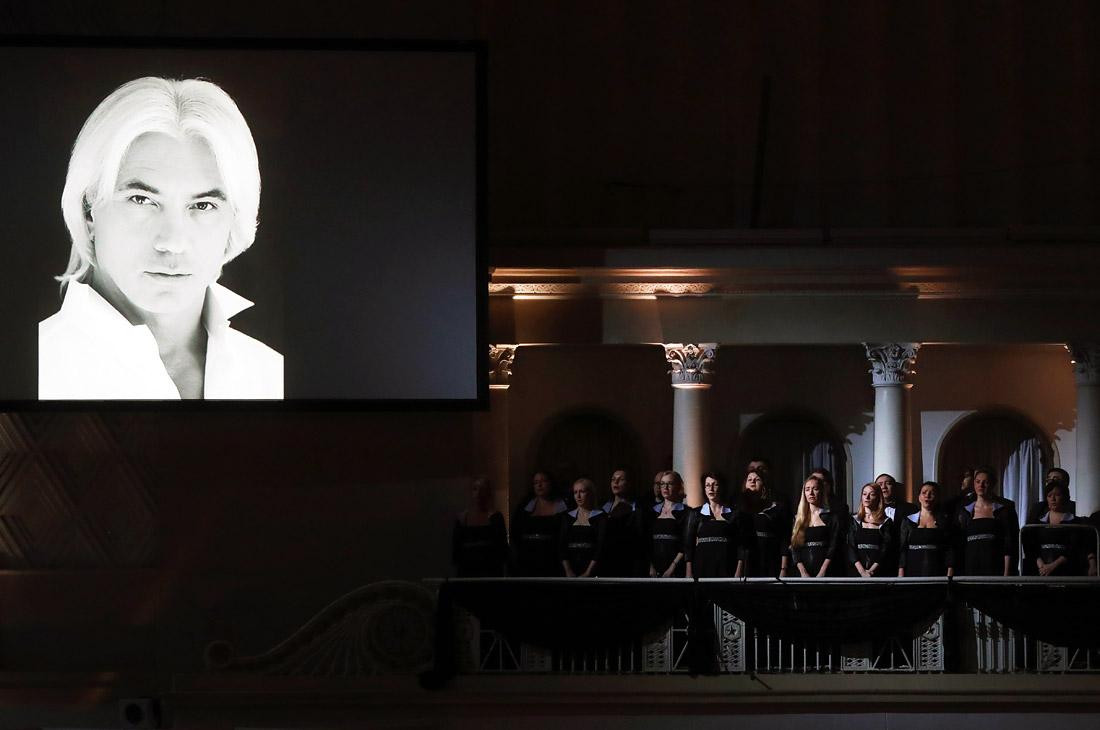 На церемонии прощания с Дмитрием Хворостовским в Концертном зале имени П. И. Чайковского