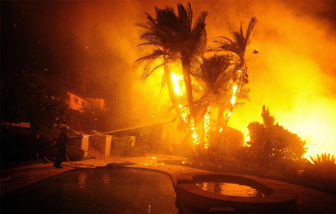 Пожары в Лос-Анджелесе