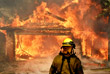 Не менее трех пожарных пострадали при тушении огня