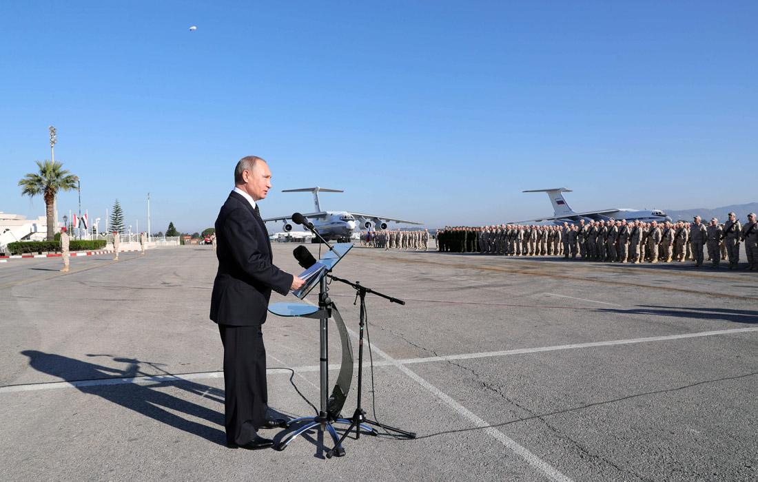 Верховный главнокомандующий ВС РФ, президент России Владимир Путин