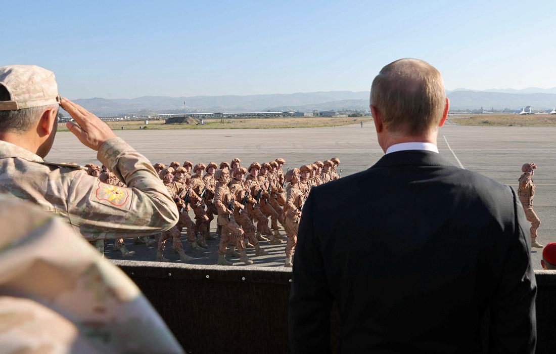 "Президент РФ Владимир Путин авиабазе ""Хмеймим"" в Сирии"