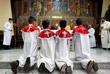 Во время рождественской мессы в Аммане, Иордания