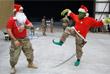 Американские солдаты празднуют Рождество в Афганистане