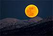 Так сегодня выглядел восход Луны в Южно-Сахалинске