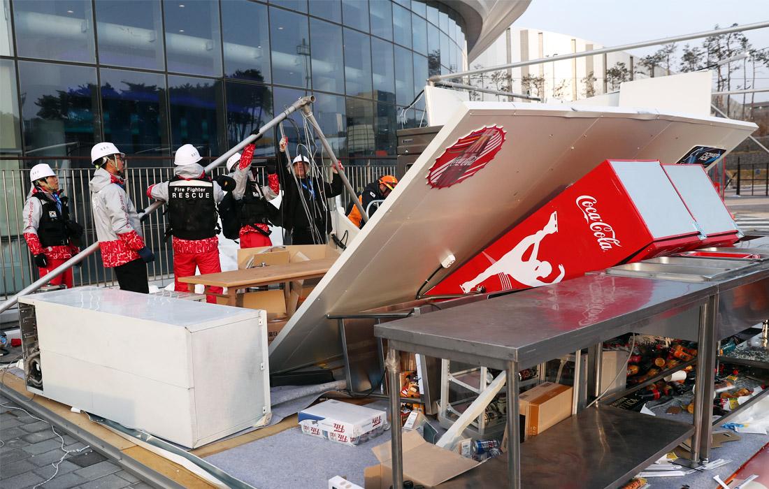 Неповезло олимпийцам— вПхенчхане кошмарный циклон, началась эвакуация