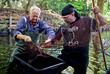 Из водоемов берлинского парка Тиргартен вылавливают американских сигнальных раков, угрожающих местной фауне