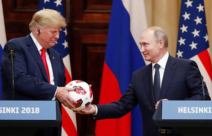 """Путин передал Трампу """"мяч полномочий"""" в ответ на цитату о """"мяче по урегулированию в Сирии"""""""