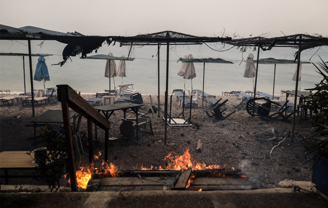 Греция намерена попросить у Евросоюза о помощи в тушении лесных пожаров
