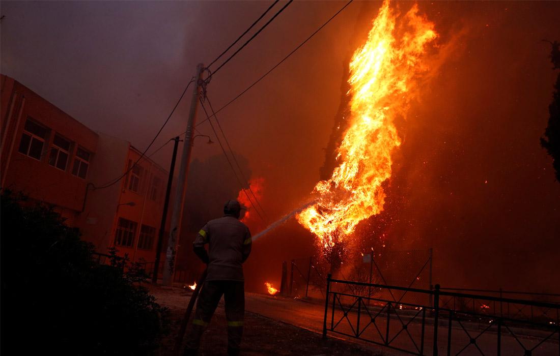 Число жертв лесных пожаров в Греции приблизилось к 50. Спасатели, задействованные в тушении огня и эвакуации людей, не исключают, что число жертв может возрасти.