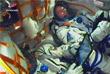 """Экипаж космического корабля """"Союз МС-10"""" во время запуска"""