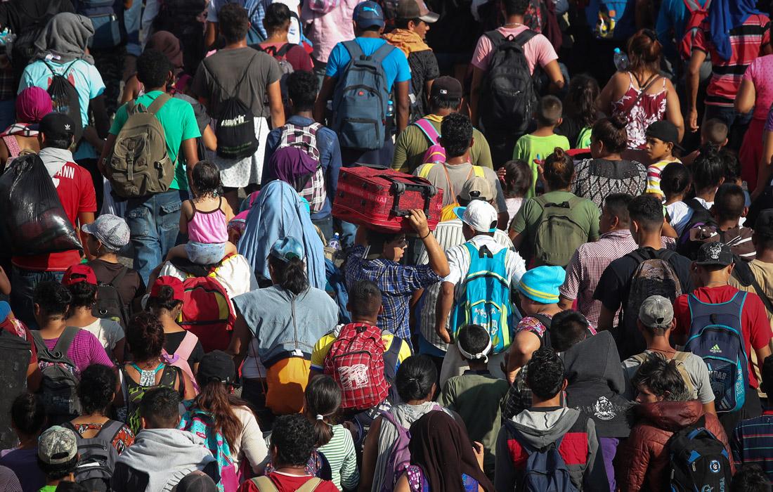 У большинства мигрантов почти нет вещей, они взяли то, что смогли унести в рюкзаках