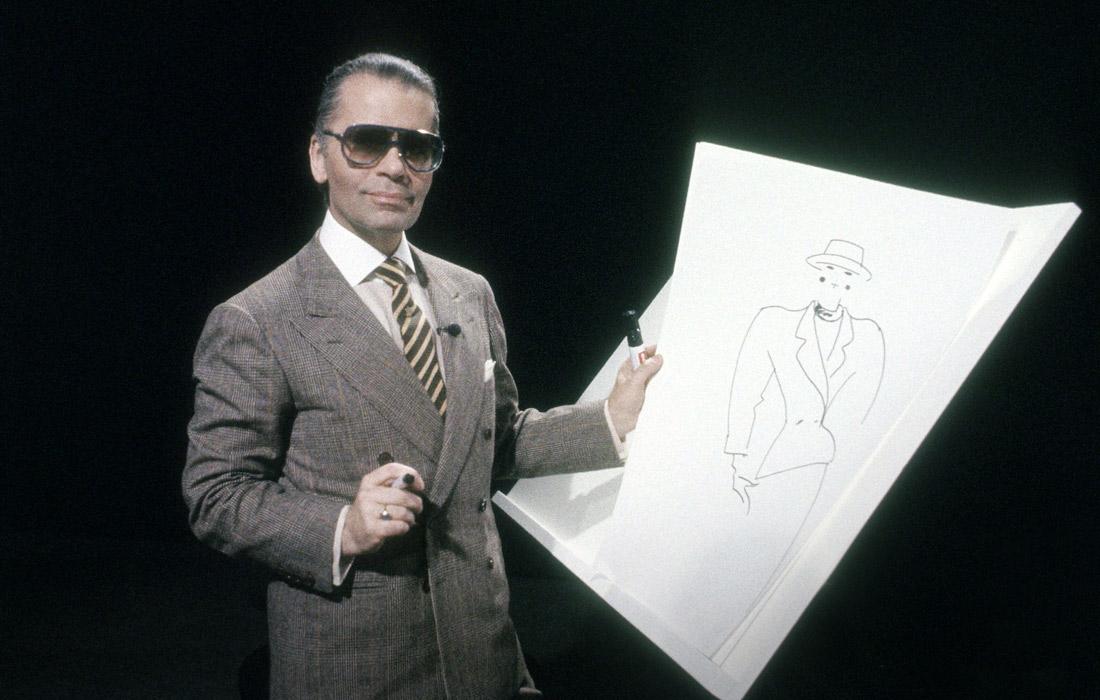 Карл Лагерфельд в сентябре 1984 года