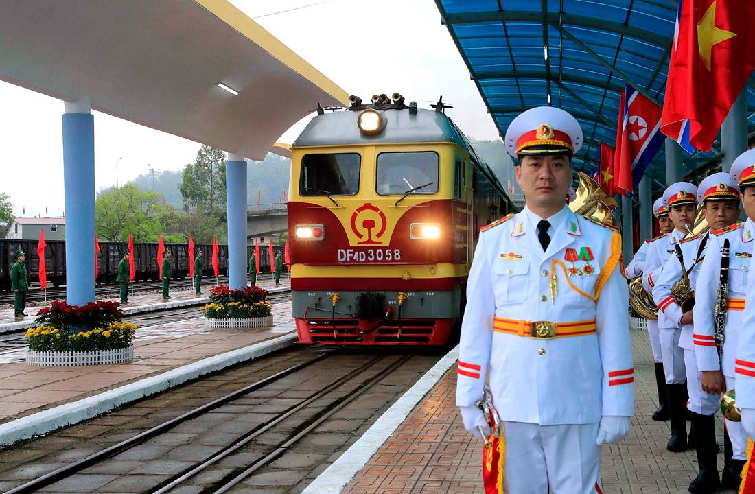 Прибытие Ким Чен Ына на саммит США - КНДР