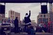 Ближе к концу на митинге с единственной песней выступила группа IC3PEAK. Концерты этой группы в прошлом году запрещались в нескольких городах России.