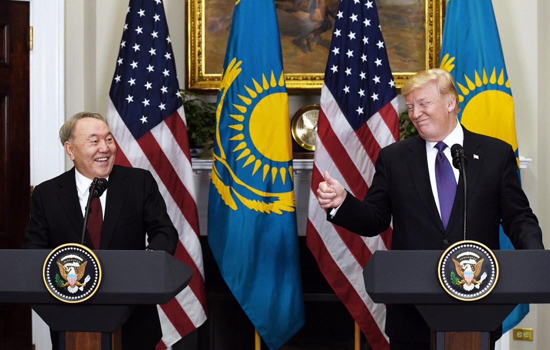 Встреча президента США Дональда Трампа и казахстанского лидера Нурсултана Назарбаева в Белом доме. 2018 год.