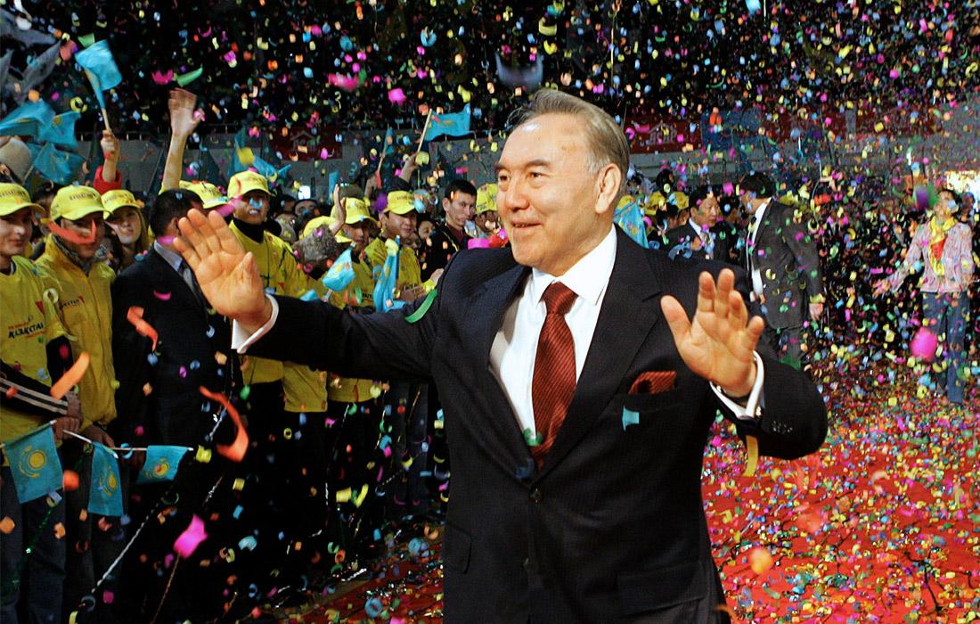 Нурсултан Назарбаев после победы на президентских выборах. 2005 год.