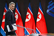 """Беседа """"тет-а-тет"""" Владимира Путина и Ким Чен Ына, продолжалась почти два часа вместо запланированного часа. На фото - пресс-секретарь президента России Дмитрий Песков."""