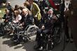 Ветераны Второй мировой войны на праздновании годовщины