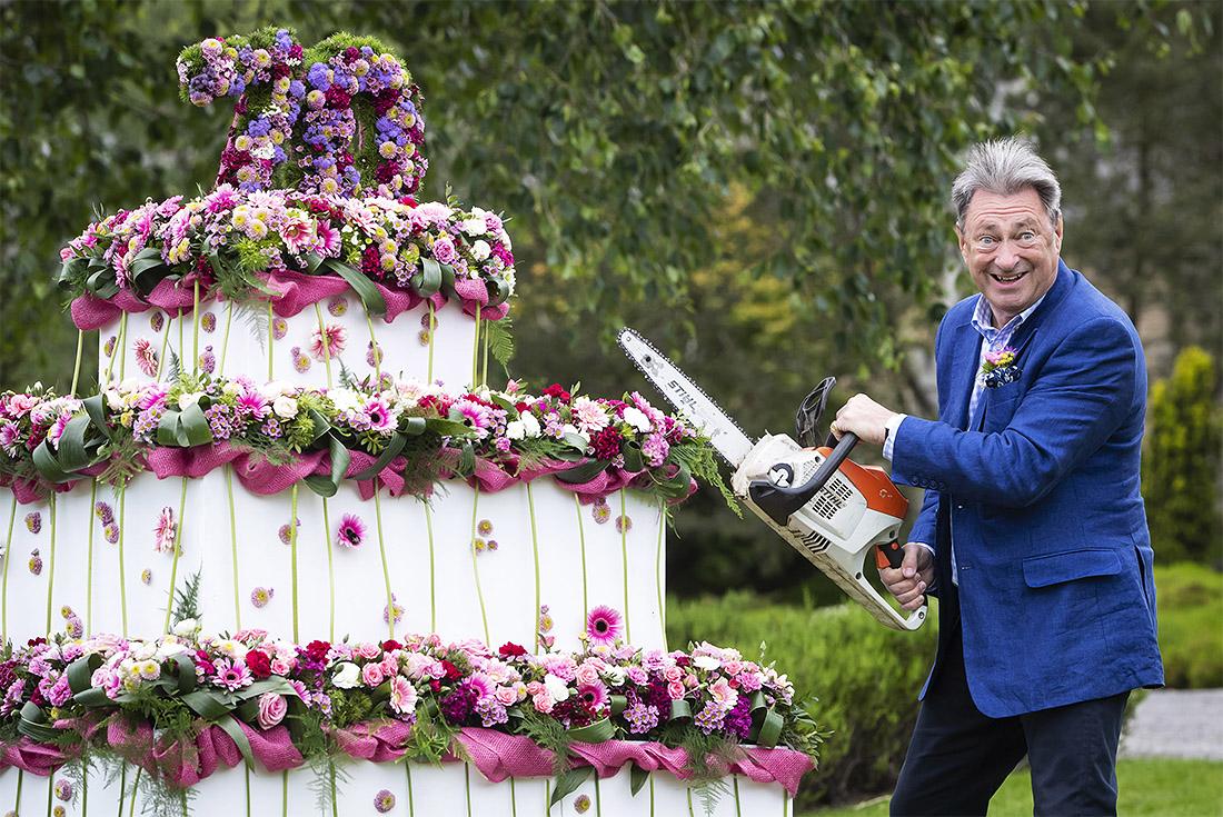 Цветочная ярмарка открывается в саду Харлоу Карр в северном Йоркшире в Англии