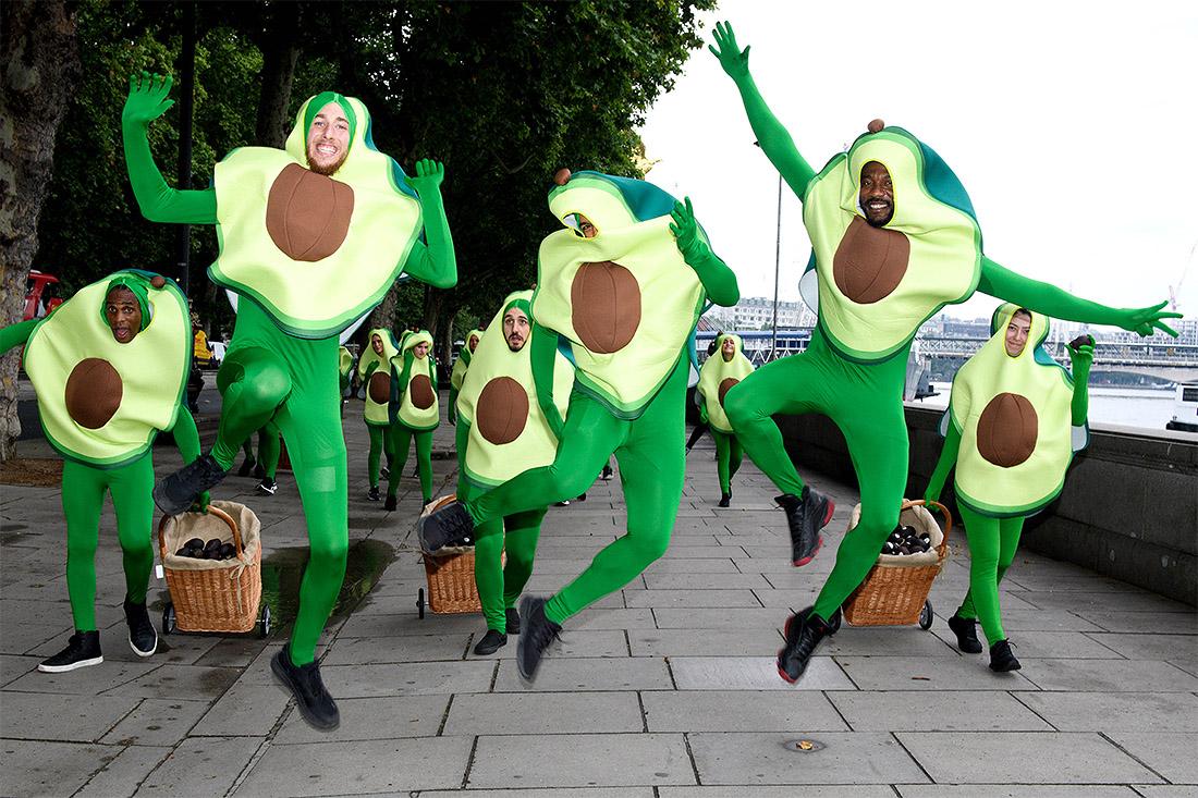 Акция в рамках Всемирного месяца авокадо прошла в Лондоне