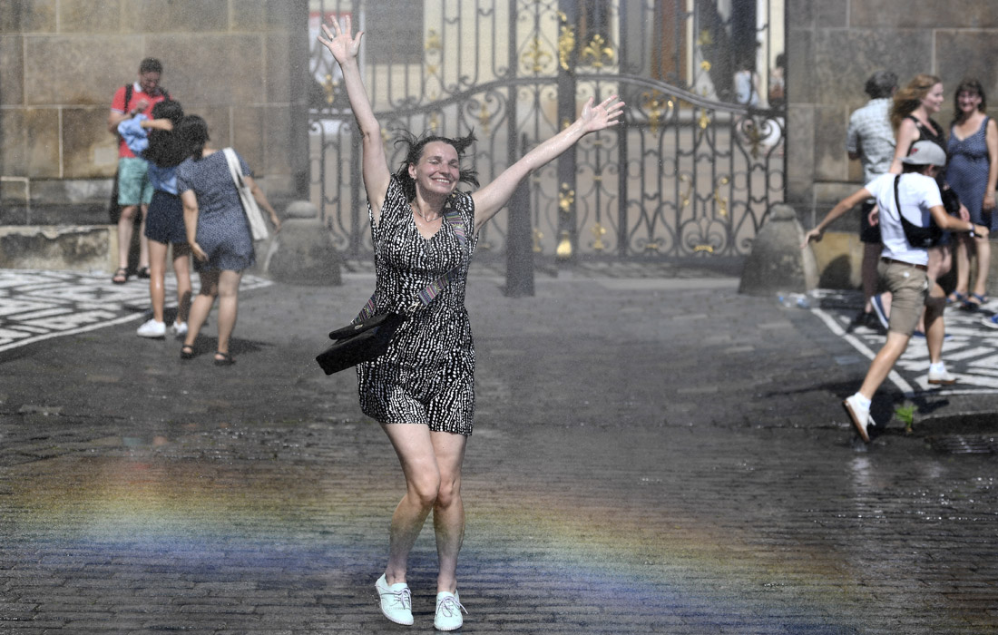 Жаркий летний день в Праге