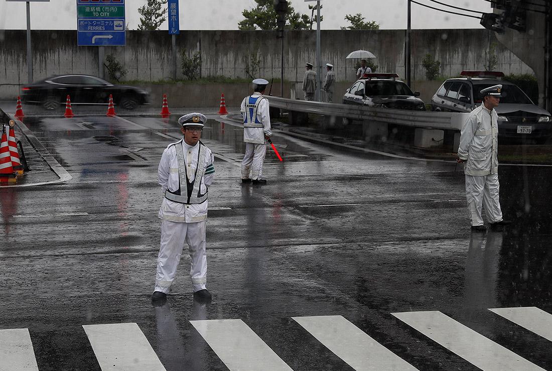 Вот такая приятная погода встретила посетителей саммита Большой двадцатки в Осаке сегодня