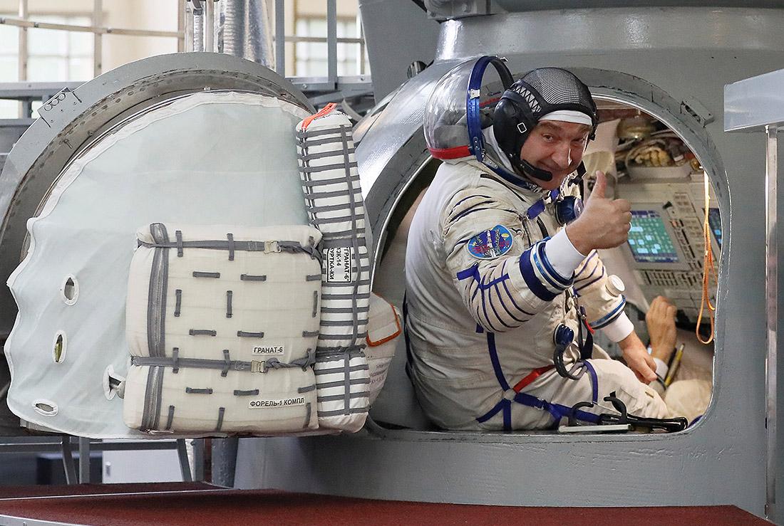 В Звездном городке сегодня прошли предполетные тренировки нового основного экипажа экспедиции МКС-60/61