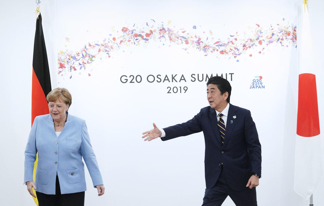 Канцлер Германии Ангела Меркель и премьер-министр Японии Синдзо Абэ