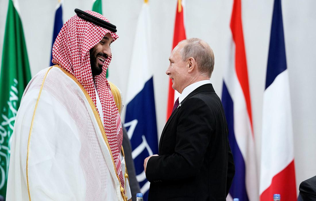 Президент России Владимир Путин и наследный принц Саудовской Аравии Мухаммед бен Сальман