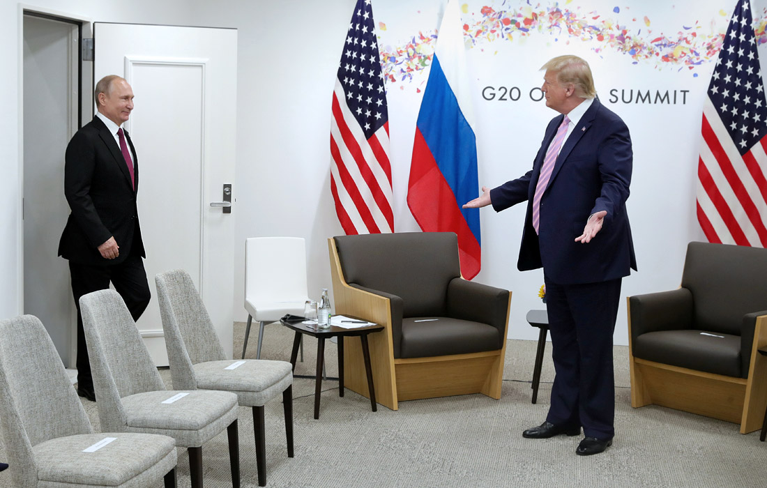 """Встреча президента России Владимира Путина и президента США Дональда Трампа на саммите """"большой двадцатки"""""""