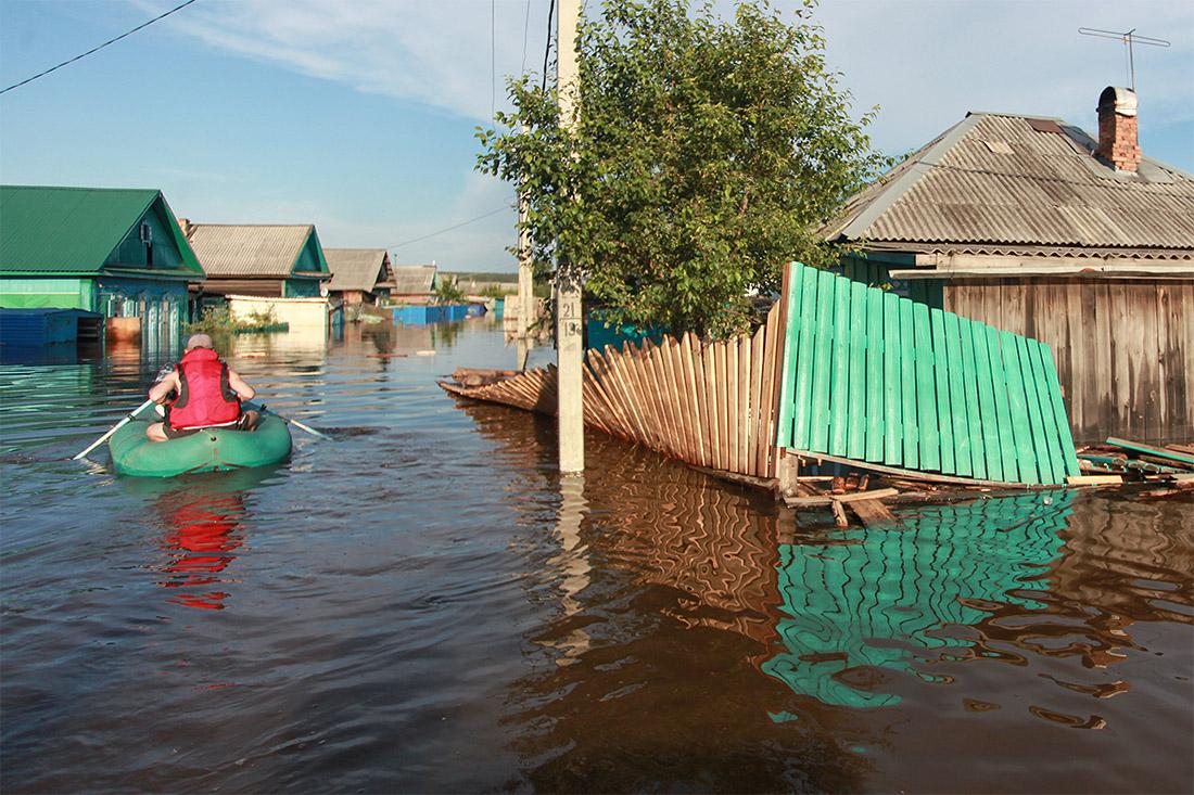 В пострадавших от паводка домах проживают 9 809 человек