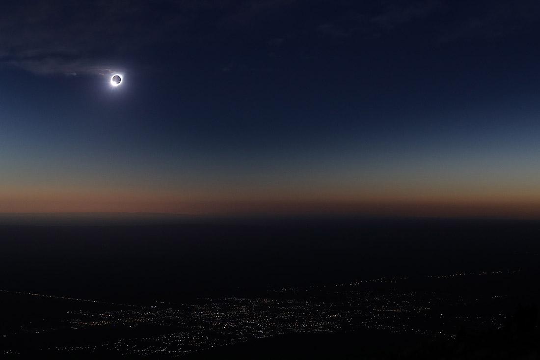 Лучше всего затмение было видно в Аргентине и Чили