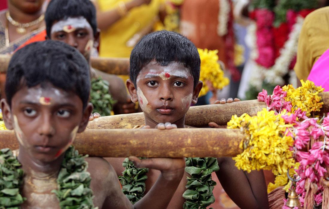 В Индии прошел фестиваль, посвященный индуистскому богу Муругану в храме в Ченнае
