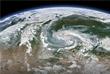 Спутниковый снимок лесных пожаров в Красноярском крае и Иркутской области